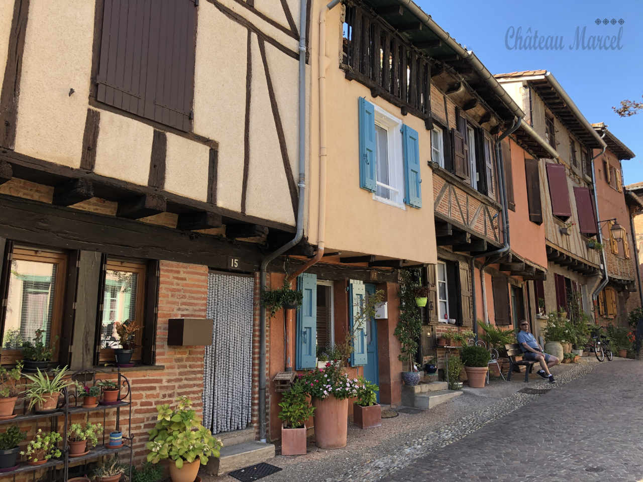 Typical house style in Albi
