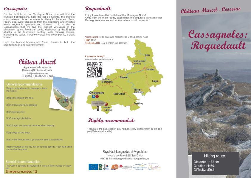 Cassagnoles: Roquedault