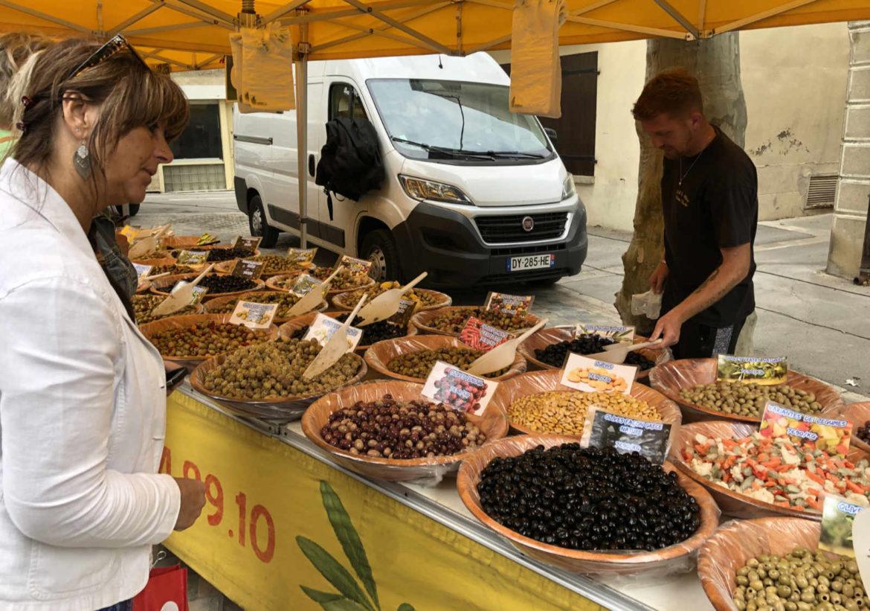 Lokale markt in Olonzac